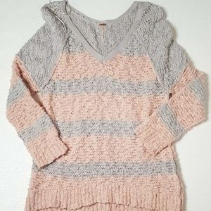 Free People pull over Oversized Sweater Sz M